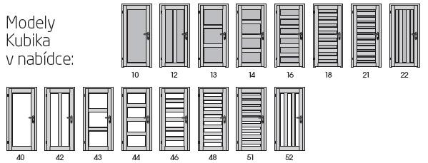 Interiérové dveře SAPELI - model KUBIKA
